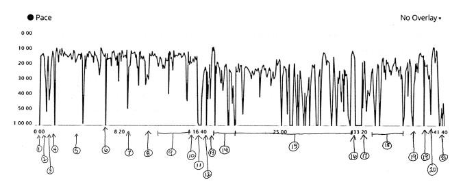 Running Jogging Graph